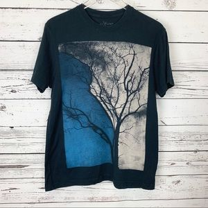 MARC ECKO Cut & Sew black tree T-shirt M